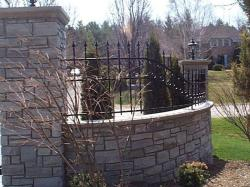 Custom Wrought Iron Gate in Stouffville.
