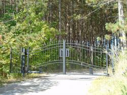 Durable welded steel gate