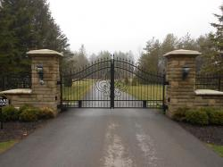 Stone Pillars and Custom Gate in Aurora.