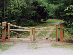 Custom Wooden Fence Gate in Orangeville.