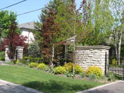 Estate Driveway Gate and Gatehouse in Ontario.