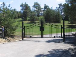 Iron Cemetery Gate in King City.