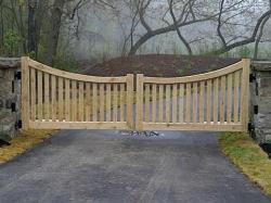 Wood Privacy Gate in Newmarket