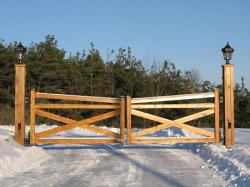 Wood Security gate in Southern Ontario