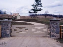 Wood Privacy Gate on a farmhouse in Southern Ontario.