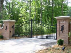 Brick Pillars & Automatic Driveway Gate in Toronto.