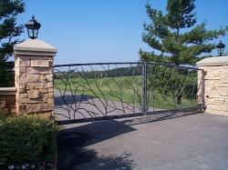 Custom Designed Iron Driveway Gate in Toronto.